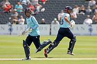 Will Buttleman and Sir Alastair Cook of Essex add to the total during Gloucestershire vs Essex Eagles, Royal London One-Day Cup Cricket at the Bristol County Ground on 3rd August 2021