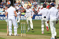 Tom Craddock of Essex (C) celebrates the wicket of Matt Prior (L) - Essex CCC vs England - LV Challenge Match at the Essex County Ground, Chelmsford - 30/06/13 - MANDATORY CREDIT: Gavin Ellis/TGSPHOTO - Self billing applies where appropriate - 0845 094 6026 - contact@tgsphoto.co.uk - NO UNPAID USE