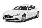 2014 Maserati Ghibli Base 4 Door Sedan Angular Front stock photos of front three quarter view