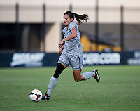 Kailey Blain (25) of Georgetown brings the ball forward during the game at Shaw Field on the campus of Georgetown University in Washington, DC.  Georgetown tied DePaul, 1-1, in double overtime.