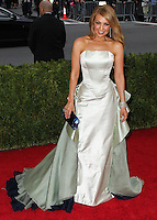 "NEW YORK CITY, NY, USA - MAY 05: Thalia at the ""Charles James: Beyond Fashion"" Costume Institute Gala held at the Metropolitan Museum of Art on May 5, 2014 in New York City, New York, United States. (Photo by Xavier Collin/Celebrity Monitor)"