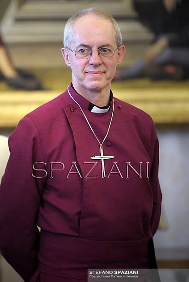 Justin Welby, Archbishop of Canterbury .Pope Francis meets His Grace Justin Welby, Archbishop of Canterbury and Primate of the Anglican Communion,at the Vatican  14 June 2013. <br /> <br /> Archbishop of Canterbury Justin Welby