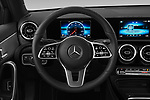 Car pictures of steering wheel view of a 2019 Mercedes Benz A Class A 200 4 Door Sedan
