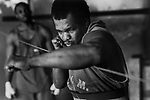 Trainer  Reggie Ford at Gleason's Gym in Brooklyn, New York.<br />Photograph by Thierry Gourjon-Bieltvedt 1995-2005