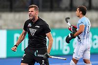 Cory Bennett goal during the Pro League Hockey match between the Blacksticks men and the Argentina, Nga Punawai, Christchurch, New Zealand, Friday 28 February 2020. Photo: Simon Watts/www.bwmedia.co.nz