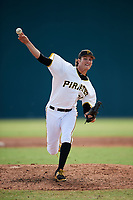 Pittsburgh Pirates pitcher Blake Cederlind (70) delivers a pitch during an Instructional League game against the Toronto Blue Jays on October 13, 2017 at Pirate City in Bradenton, Florida.  (Mike Janes/Four Seam Images)