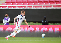 ZAPOPAN, MEXICO - MARCH 21: Samuel Vines #13 of the United States looks for the ball during a game between Dominican Republic and USMNT U-23 at Estadio Akron on March 21, 2021 in Zapopan, Mexico.