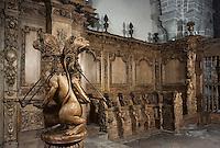 Europe/France/Limousin/23/Creuse/Moutier-d'Ahun: Eglise - Lutrin et stalles 1673-1681
