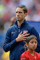 Chicago, IL - Sunday July 28, 2013:   USMNT defender Clarence Goodson (21) during the CONCACAF Gold Cup Finals soccer match between the USMNT and Panama, at Soldier Field in Chicago, IL.