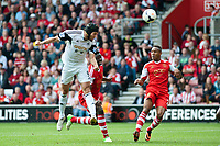Sun 06 October 2013 Pictured: Michu of Swansea makes an attempt at a header  Re: Barclays Premier League Southampton FC  v Swansea City FC  at St.Mary's Stadium, Southampton