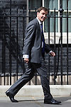 © Joel Goodman - 07973 332324 . 11/05/2015 . London , UK . GREG HANDS leaves 10 Downing Street this afternoon (11th May 2015) . Photo credit : Joel Goodman