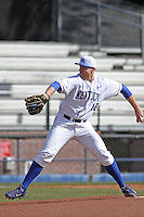 University of Kentucky Wildcats pitcher A.J. Reed pitching during a game against the University of Virginia Cavaliers at Brooks Field on the campus of the University of North Carolina at Wilmington on February 14, 2014 in Wilmington, North Carolina. Kentucky defeated Virginia by the score of 8-3. (Robert Gurganus/Four Seam Images)