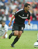 3 April 2004:  DC United Jamie Moreno in action against Earthquakes during the opening day at RFK Stadium in Washington DC.  DC United defeated Earthquakes 2-1.