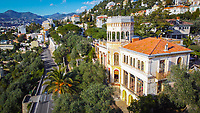 BNPS.co.uk (01202) 558833. <br /> Pic: Leggett/BNPS<br /> <br /> Pictured: Villa Beau Site. <br /> <br /> A villa with the potential to become one of the Cote d'Azur's most opulent homes has gone on sale for £6.8m (7.9 million euros).<br /> <br /> Villa Beau Site, which was built in 1870, is so unique that it is regarded as an official French historic monument.<br /> <br /> The Cure recorded their iconic video for the song Catch there in 1987 and its nearest neighbour is the former home of actor Sean Connery.<br /> <br /> The property comes with ten bedrooms, ten bathrooms and more than 20 other rooms, many with views over the Mediterranean towards the city of Nice.
