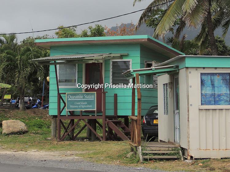 Rarotonga, Cook Islands - September 21, 2012:  The Quarantine Station at Avatiu Harbor.