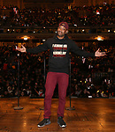 "Host Bryan Terrell Clark during The Rockefeller Foundation and The Gilder Lehrman Institute of American History sponsored High School student #EduHam matinee performance of ""Hamilton"" at the Richard Rodgers Theatre on October 24, 2018 in New York City."