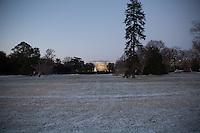 Casa Bianca illuminata in inverno White House during winter