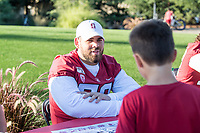 STANFORD, CA -- August 18, 2019. The Stanford Cardinal football team practice and Fan Fest at Elliott Field, Stanford CA.
