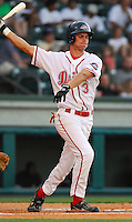 4 June 2007: Josh Reddick of the Greenville Drive, Class A South Atlantic League affiliate of the Boston Red Sox, in a game against the Kannapolis Intimidators at West End Field in Greenville, S.C. Photo by:  Tom Priddy/Four Seam Images