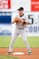 July 19, 2009:  Second Baseman Barry Butera (3) of the Tri-City ValleyCats during a game at Dwyer Stadium in Batavia, NY.  The ValleyCats are the Short-Season Class-A affiliate of the Houston Astros.  Photo By Mike Janes/Four Seam Images