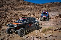 5th January 2021; Dakar Rally stage 3; #384 Bergounhe Jean-Rémy (fra), Brucy Jean (fra), PH Sport, PH Sport, Light Weight Vehicles Prototype - T3, action#442 Rosa Lourenço (prt), Dias Joaquim (prt), Can-Am, South Racing Can-Am, Motul, SSV Series - T4, action during the 3rd stage of the Dakar 2021 between Wadi Al Dawasir and Wadi Al Dawasir, in Saudi Arabia on January 5, 2021