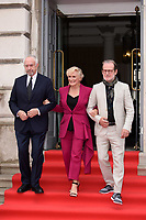 """Jonathan Pryce, Glenn Close and director, Bjorn Runge<br /> arriving for the premiere of """"The Wife"""" at Somerset House, London<br /> <br /> ©Ash Knotek  D3418  09/08/2018"""