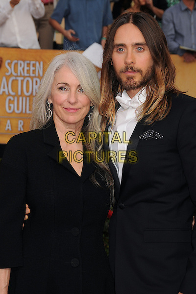 18 January 2014 - Los Angeles, California - Connie Leto, Jared Leto. 20th Annual Screen Actors Guild Awards - Arrivals held at The Shrine Auditorium. Photo Credit: Byron Purvis/AdMedia<br /> CAP/ADM/BP<br /> ©Byron Purvis/AdMedia/Capital Pictures