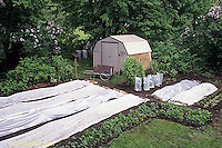 HB07-050x  Garden row coverings - floating row covers - fabric and poly plastic