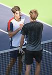 Taylor Fritz (USA) defeated Alexander Zverev (GER) 4-6, 6-3, 7-6 (7-3), at the BNP Paribas Open being played at Indian Wells Tennis Garden in Indian Wells, California on October 15,2021: ©Karla Kinne/Tennisclix/CSM