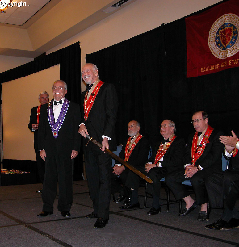 """Guy Buffet is inducted into the prestigious """"Chaine des Rotisseurs"""", October 2010."""