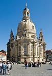 Deutschland, Freistaat Sachsen, Dresden: Frauenkirche am Neumarkt   Germany, the Free State of Saxony, Dresden: church of our lady at Neumarkt square
