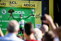 Sam Bennett (IRE/Deceuninck-Quick Step) receiving the green jersey <br /> <br /> Stage 5 from Gap to Privas 183km<br /> 107th Tour de France 2020 (2.UWT)<br /> (the 'postponed edition' held in september)<br /> ©kramon