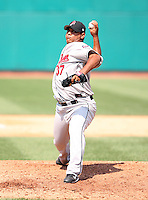 2007:  Frank Mata of the New Britain Rock Cats, Class-AA affiliate of the Minnesota Twins, during the Eastern League baseball season.  Photo by Mike Janes/Four Seam Images