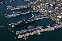 aerial photograph of Naval Base San Diego, San Diego, California