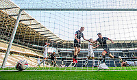 Lincoln City's Tom Hopper celebrates scoring his side's second goal<br /> <br /> Photographer Chris Vaughan/CameraSport<br /> <br /> The EFL Sky Bet League One - Milton Keynes Dons v Lincoln City - Saturday 19th September 2020 - Stadium MK - Milton Keynes<br /> <br /> World Copyright © 2020 CameraSport. All rights reserved. 43 Linden Ave. Countesthorpe. Leicester. England. LE8 5PG - Tel: +44 (0) 116 277 4147 - admin@camerasport.com - www.camerasport.com