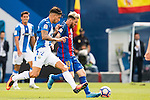 Lionel Messi of FC Barcelona battles for the ball with Carl Medjani of Deportivo Leganes during their La Liga match between Deportivo Leganes and FC Barcelona at the Butarque Municipal Stadium on 17 September 2016 in Madrid, Spain. Photo by Diego Gonzalez Souto / Power Sport Images