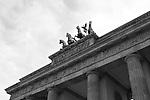 The Brandenburg Gate. Berlin, Germany. Aug. 1, 2007.