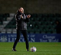 Lincoln City manager Michael Appleton applauds the fans at the final whistle<br /> <br /> Photographer Chris Vaughan/CameraSport<br /> <br /> The EFL Sky Bet League One - Lincoln City v Milton Keynes Dons - Tuesday 11th February 2020 - LNER Stadium - Lincoln<br /> <br /> World Copyright © 2020 CameraSport. All rights reserved. 43 Linden Ave. Countesthorpe. Leicester. England. LE8 5PG - Tel: +44 (0) 116 277 4147 - admin@camerasport.com - www.camerasport.com