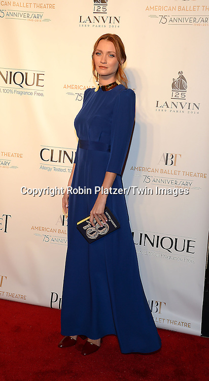 Nina Bagdal attends the Opening Night of American Ballet Theatre 2014 Fall Gala on October 22,2014 at the David Koch Theater at Lincoln Center in New York City.<br /> <br /> photo by Robin Platzer/Twin Images<br />  <br /> phone number 212-935-0770