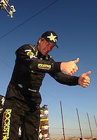 Apr 17, 2011; Surprise, AZ USA; LOORRS driver Rob MacCachren (1) celebrates after winning round 4 at Speedworld Off Road Park. Mandatory Credit: Mark J. Rebilas-
