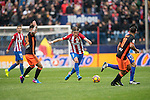 Filipe Luis of Atletico de Madrid (center) runs with the ball during the match Atletico de Madrid vs Valencia CF, a La Liga match at the Estadio Vicente Calderon on 05 March 2017 in Madrid, Spain. Photo by Diego Gonzalez Souto / Power Sport Images