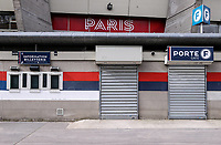 11th March 2020, Parc des Princes, Paris, France; Champions League - Round of 16 Second Leg - Paris St Germain versus Borussia Dortmund;  General view outside the stadium before the match which will be played behind closed doors due to the corona virus cases scare