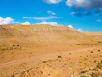 Landscape on the road between Termez and Qarshi, at Chak Chak police check point.