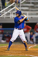 Kevin Kaczmarski (36) of the Kingsport Mets at bat against the Elizabethton Twins at Hunter Wright Stadium on July 8, 2015 in Kingsport, Tennessee.  The Mets defeated the Twins 8-2. (Brian Westerholt/Four Seam Images)