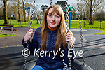 Canesha Leen enjoying the playground in the Tralee town park on Sunday,