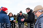 Discussing the proposed landing area and access road at Cromane Point on Saturday Damian Quigg, Cromane PRO Tracey Healy, Sean Roche, Brendan Griffin & Donal Mangan.