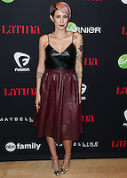 WEST HOLLYWOOD, CA, USA - NOVEMBER 13: Dev, Devin Star Tailes arrives at the Latina Magazine's '30 Under 30' Party held at SkyBar at the Mondrian Los Angeles on November 13, 2014 in West Hollywood, California, United States. (Photo by Xavier Collin/Celebrity Monitor)