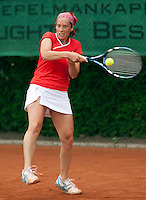 12-8-09, Den Bosch,Nationale Tennis Kampioenschappen, 1e ronde,  Stephanie Gomperts