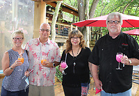 Donna and Chris Becnel (from left) and Gloria and Kevin King gather at Dog Days of Summer.<br /> (NWA Democrat-Gazette/Carin Schoppmeyer)