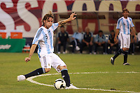 Argentina defender Gonzalo Rodriguez (3). The men's national teams of the United States and Argentina played to a 0-0 tie during an international friendly at Giants Stadium in East Rutherford, NJ, on June 8, 2008.